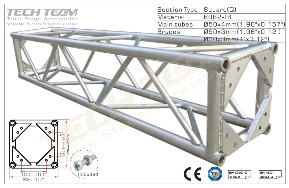 BD52-QS10;Straight truss;520 Square