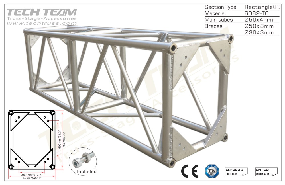 BD76-RS20;Straight truss;760 Rectangle