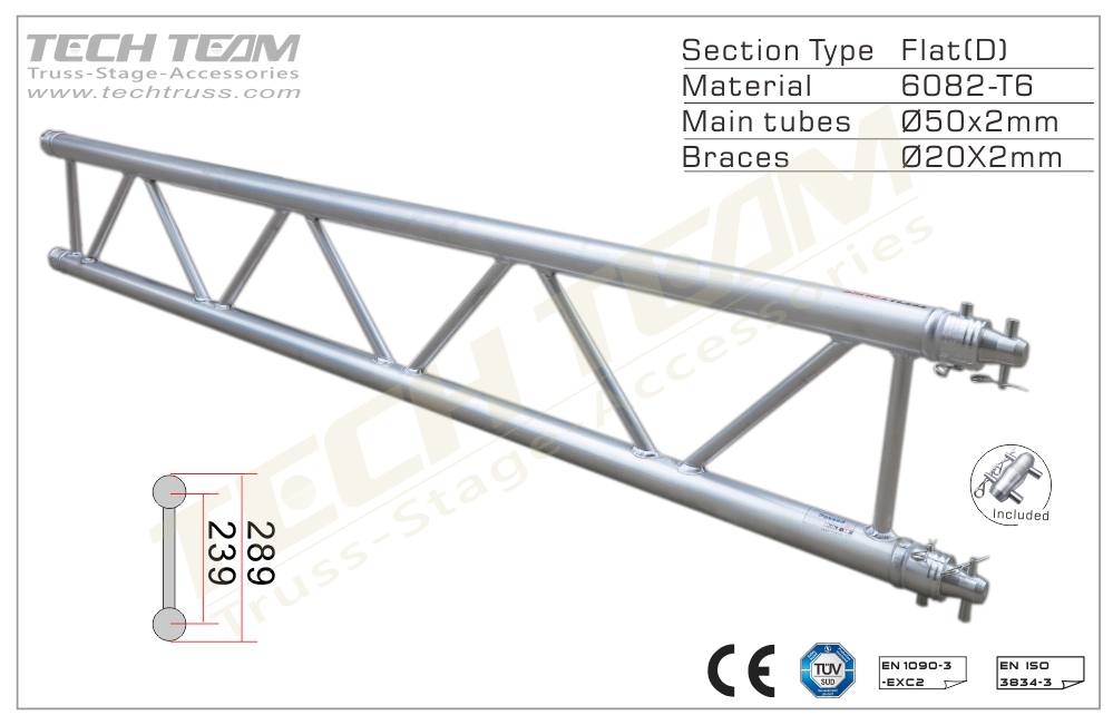 B30-DS25;Straight truss;289 Flat