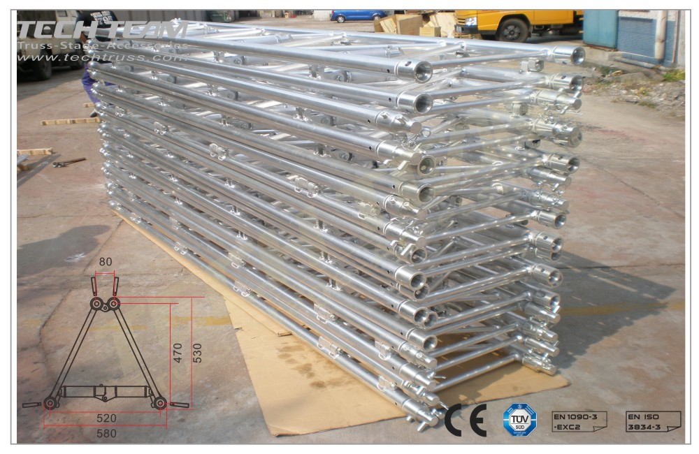 D52-FS10;Straight truss 530x580 Folding