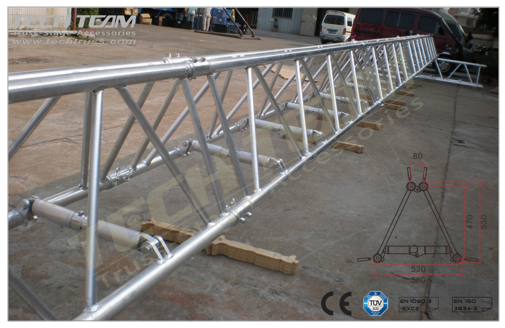 D52-FS15;Straight truss 530x580 Folding
