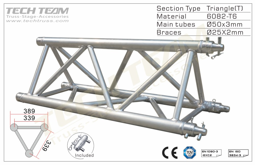 C40-TS20;Straight truss;389 Triangle
