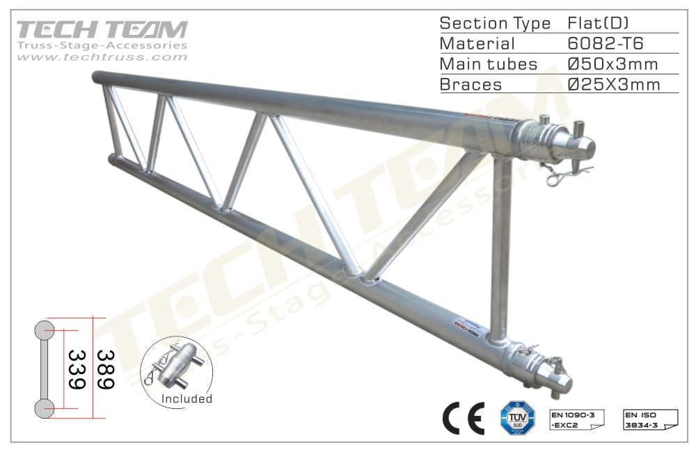 C40-DS10;Straight truss;389 Flat