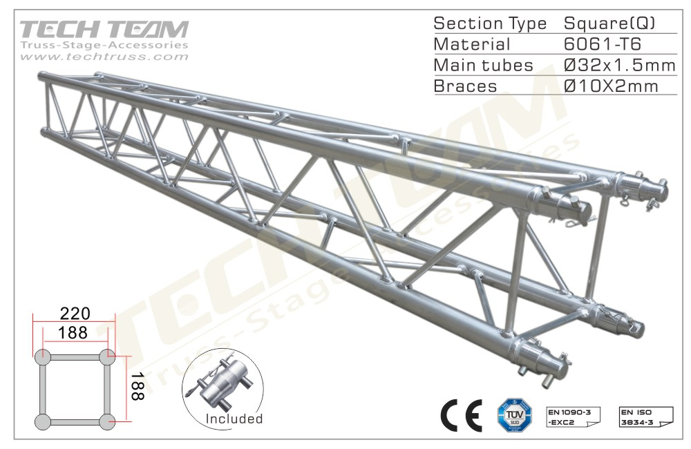 A20-QS25;Straight truss;220 Square
