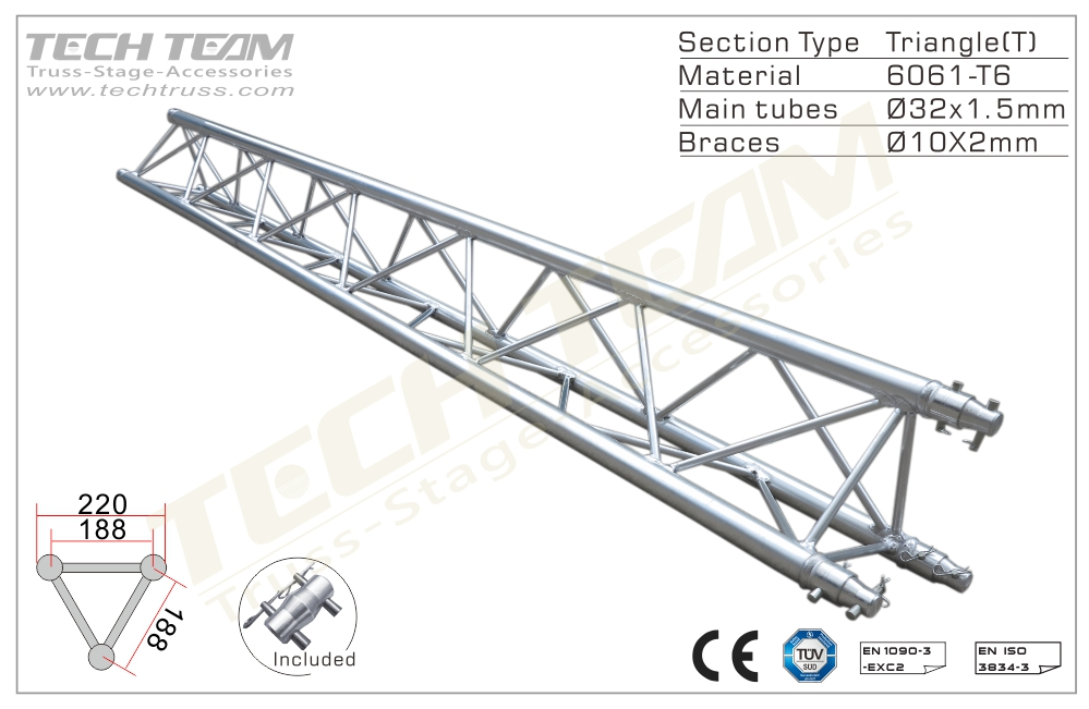 A20-TS10;Straight truss;220 Triangle