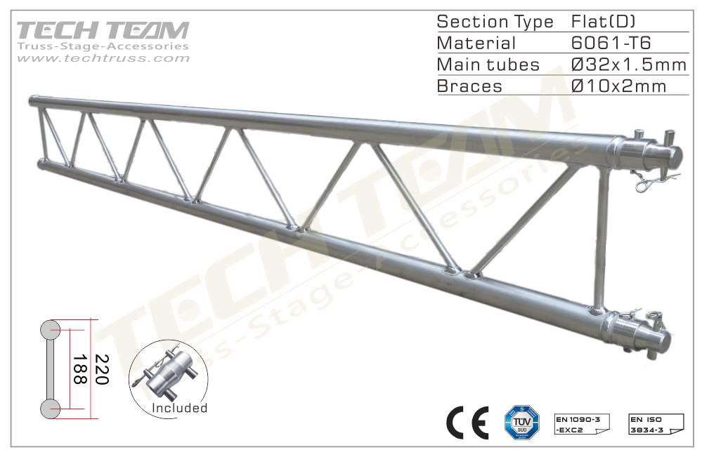 A20-DS15;Straight truss;220 Flat