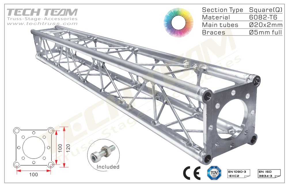 BB12-QS10;Straight truss;120 Square
