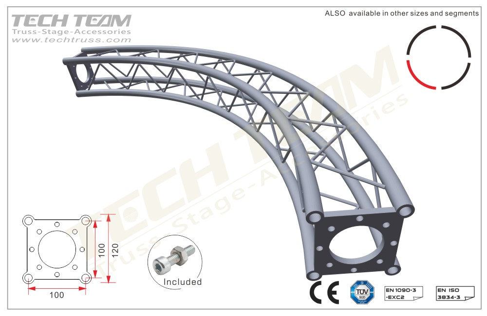 BB12-QR05012;Ø10m Circle Truss