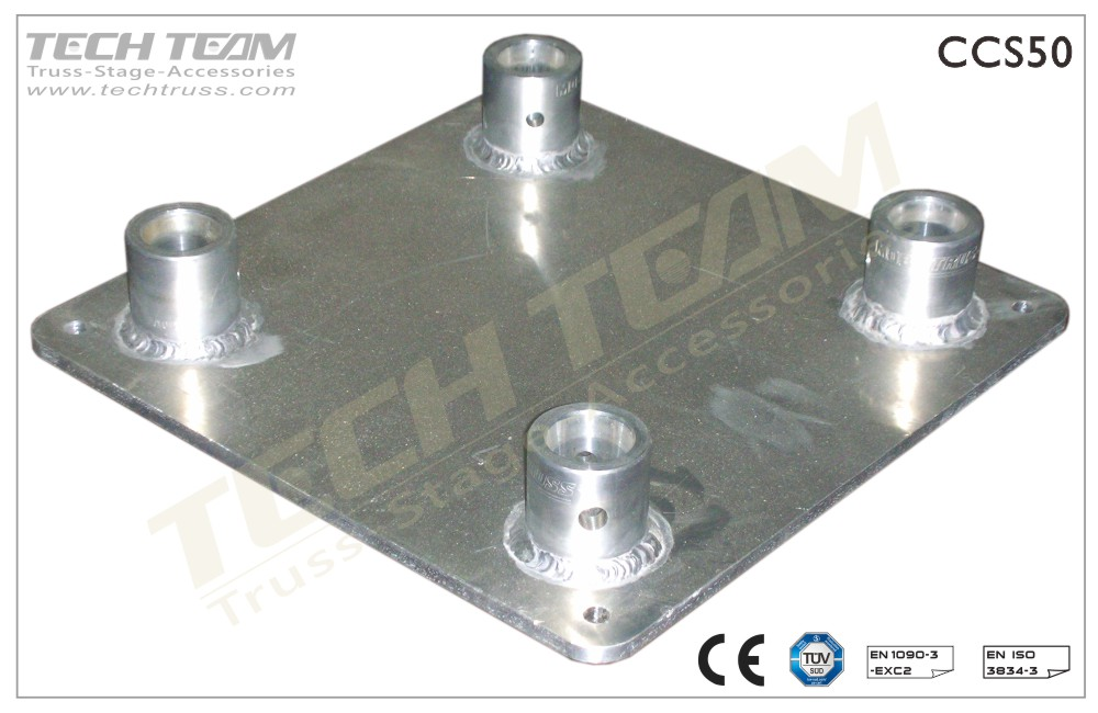 Base Plate : For Square Truss;With Female Receivers