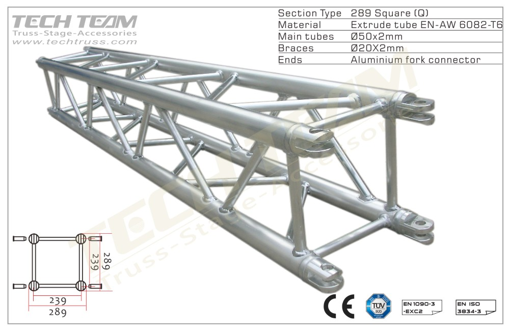 MB30-QS25;Straight truss;289 Square