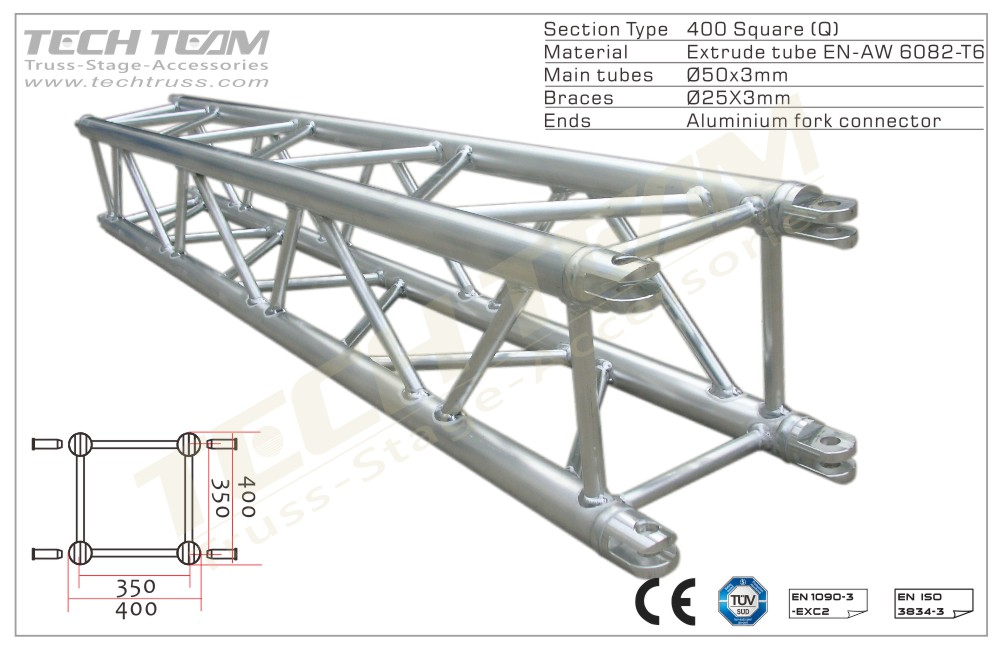 MC40-QS10;Straight truss;400 Square