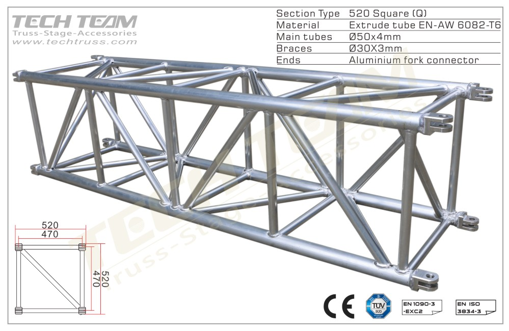 MD52-QS20;Straight truss;520 Square