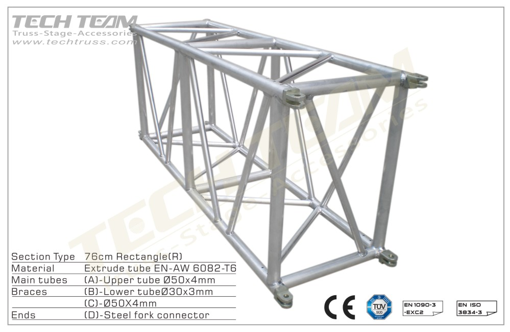MD76-RS10;Straight truss;760 Rectangle
