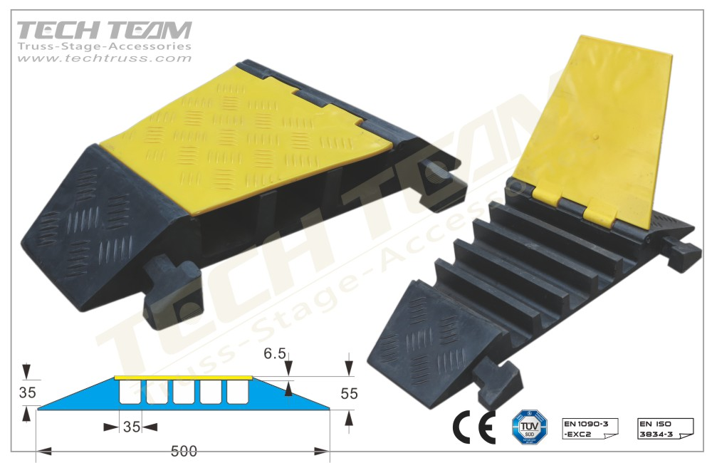 CCRP5UA  ;5 Channel Cable Protector(22.5º corner)