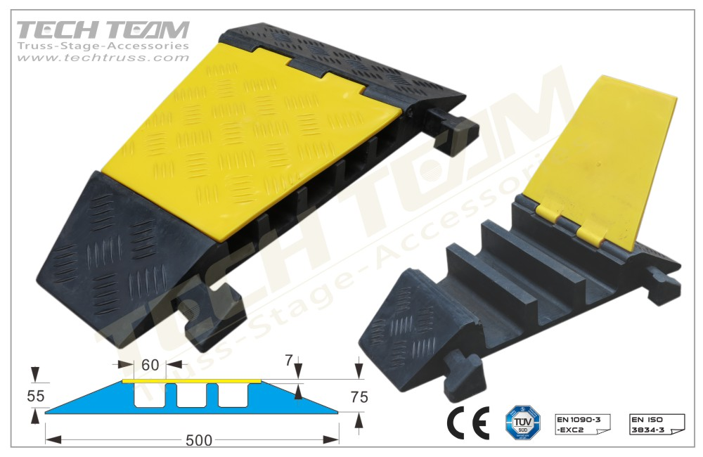 CCRP3UA ;3 Channel Cable Protector(22.5º Corner)