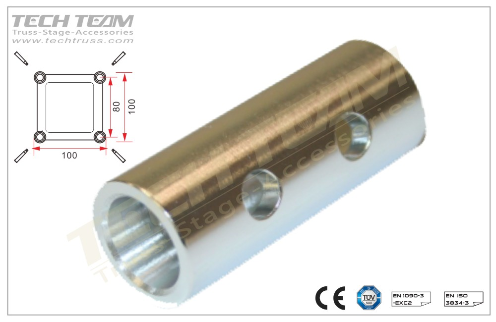FCC2010; Spacer female 100mm