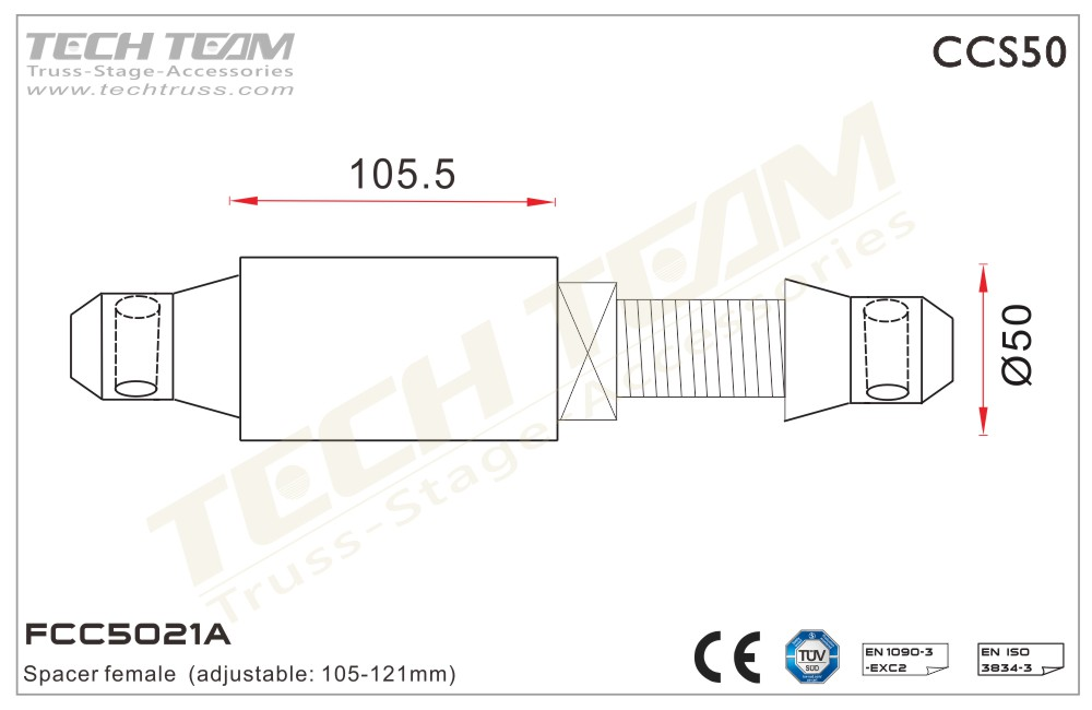 FCC5021A; Spacer Male