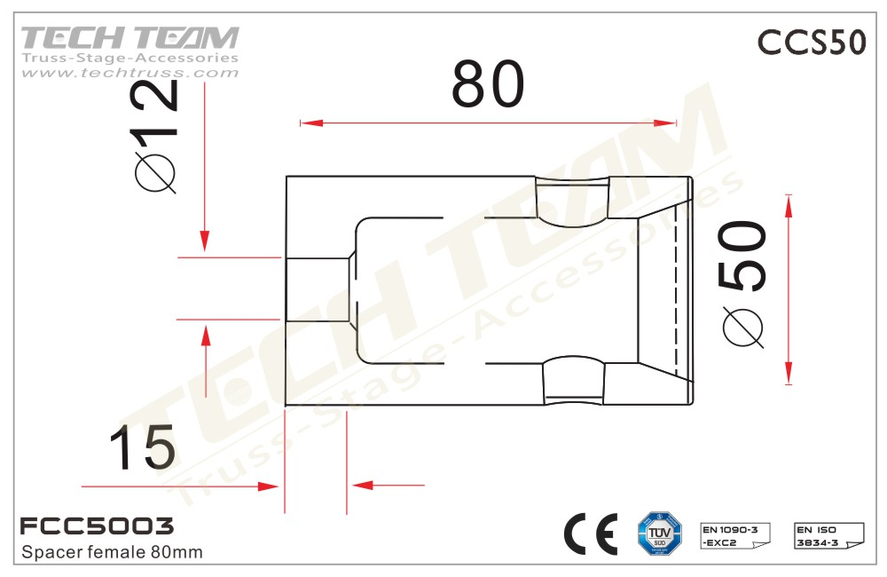 FCC5003; Spacer Female