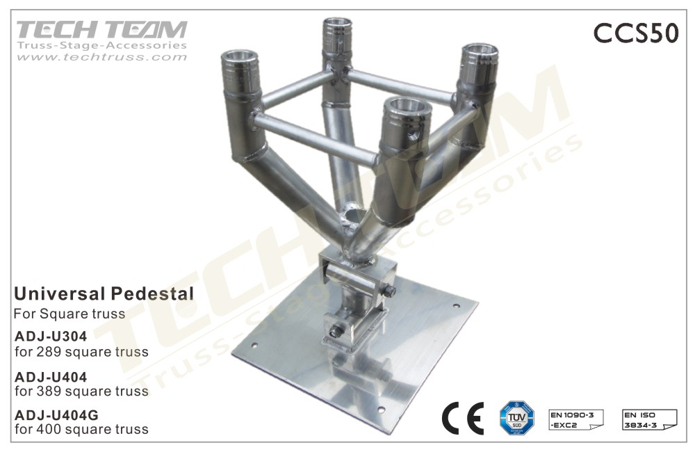 Universal Pedestal For Square Truss