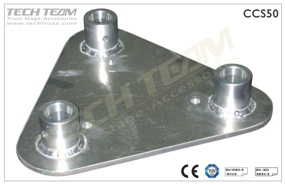 Base Plate : For Triangle Truss;With Female Receivers