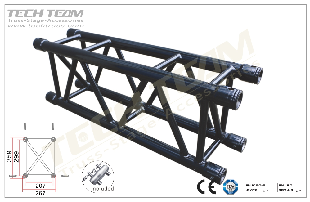 D36-RS30;Straight truss;359x267 Rectangle