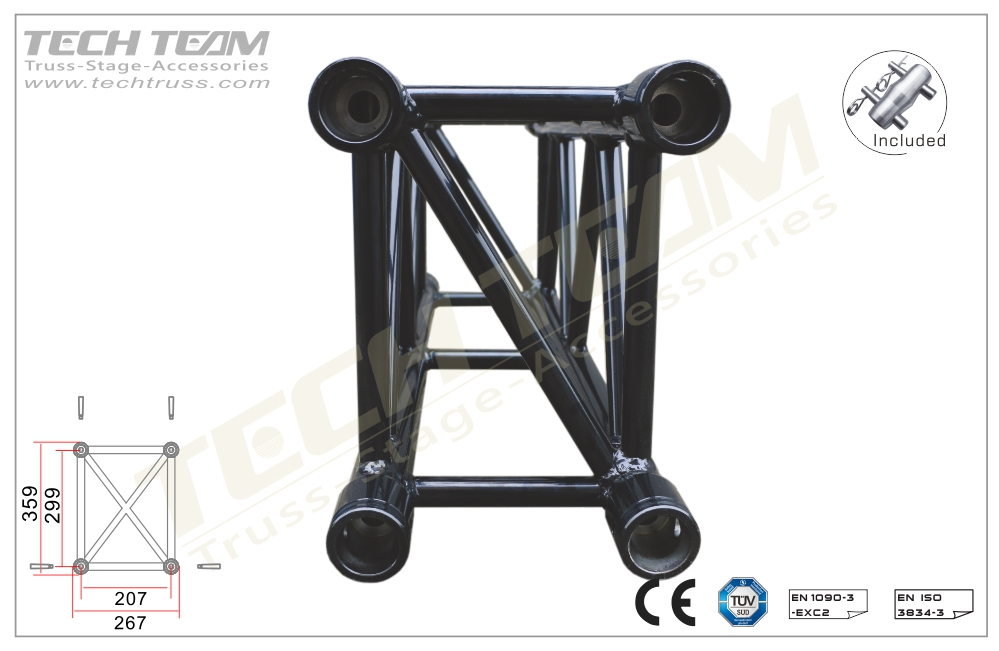 D36-RS50;Straight truss;359x267 Rectangle