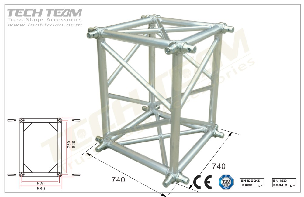 BOX-7604;Box Corner;760 Rectangle Truss